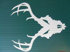 Kentucky Deer Skull vinyl decal for window, truck, toolbox or anywhere else! by 101LEDs on Etsy