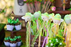 Cake Pops from a Tinkerbell Fairy Garden Birthday Party via Kara's Party Ideas KarasPartyIdeas.com (8)