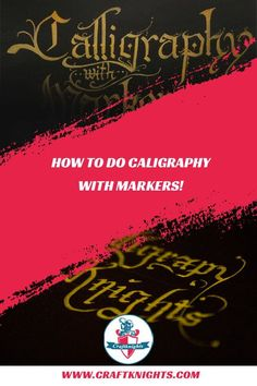 How to do calligraphy with markers. A basic guide and tipps for doing calligraphy with different markers. How To Do Caligraphy, Learn Calligraphy, Calligraphy Alphabet, Marker Art, Knitting For Beginners, Copic Markers, Knitting Projects, Hand Lettering, Typography