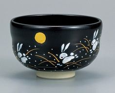 Japanese Pottery Kutani Ware Tea Bowl Tenmoku Usagi Chawan for Green Tea on Etsy, $85.00