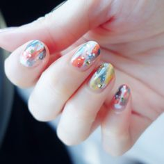塗りかけアート風 nail | うめりのセルフネイル。 Nail Drawing, Gel Designs, Fancy Nails, Nail Inspo, Beauty Nails, Nail Polish, Drawings, Health Care, Board