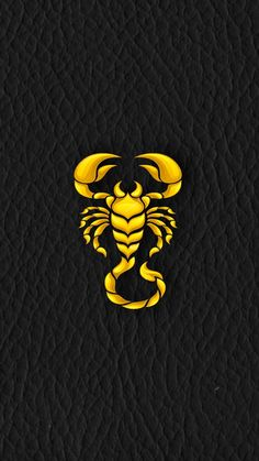Gold Scorpion On Soft Black Leather IPhone Wallpaper 2