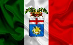 Download wallpapers coat of arms, province of Milan, flag of Italy, Milan, italian flag
