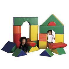 21 Pc. Jumbo Soft Blocks from Honor Roll Childcare Supply. Daycare Preschool Kids