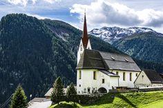 Heiliger Vitus, St. Veit in Defereggen, Lienz, Tirol, Österreich (Austria) #church #kirche #vitus #heiliger #defereggen #lienz #tirol #oesterreich #rakousko #austria #mountains #tyrolsko #tyrol #sky #trees #kostel