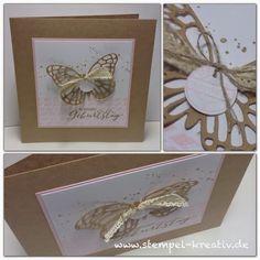 Glückwunschkarte Stampin up Schmetterlingsgruß