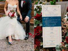 wedding program - photo by The Melideos http://ruffledblog.com/sophisticated-science-fiction-wedding