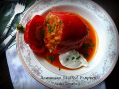 "Home Cooking In Montana: Romanian Stuffed peppers. or ""Ardei Umpluti"" (Healthy! Hungarian Recipes, Turkish Recipes, Romanian Recipes, Ethnic Recipes, Hungarian Food, Scottish Recipes, Yummy Vegetable Recipes, Healthy Recipes, Healthy Meals"