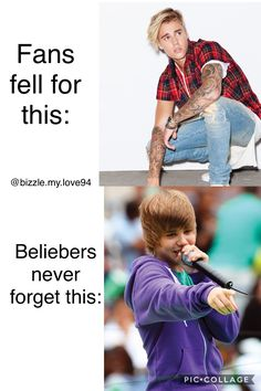 Fans vs beliebers.... never forget where he came from