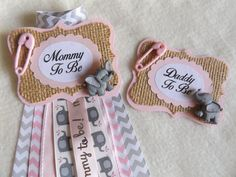 Hey, I found this really awesome Etsy listing at https://www.etsy.com/listing/387076456/elephant-mommy-and-daddy-to-be-set-pink