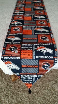 Denver Broncos Reversible Table Runner. New Fabric now in Stock!! by freemansalesgirl on Etsy