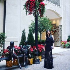 Gorgeous #fashionblogger @rikkolee in our #AW15 #Thea maxi dress in black ❤ Loving this delicate #CHRISTMASLOOK, thank you for choosing Jarlo!