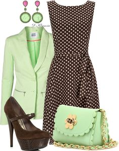 """chocolate con menta"" by clemencia-gonza on Polyvore"