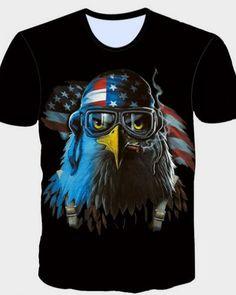 15c8ed0a53c 2017 New Arrival Mens T Shirt Summer Fashion American Flag Eagle Print T  Shirt Men Brand Short Sleeve Hip Hop Tops Tees