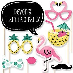 Flamingo - Party Like a Pineapple - Baby Shower Theme | BigDotOfHappiness.com