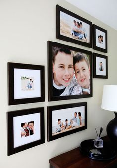 I just love this photo arrangement! Really creative use of different sizes. (The photos here are fantastic as well :) ) Credit goes to Simply Life Photography simplylifephotogr. Picture Arrangements, Photo Arrangement, Frame Arrangements, Frames On Wall, Wall Collage, Portrait Wall, Photo Layouts, Affordable Home Decor, Home Pictures