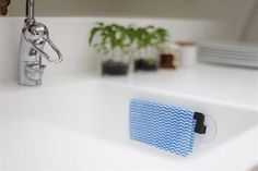 Bosign dishcloth holder - graphite grey plastic - Bosign