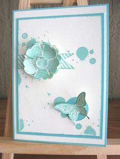 Georgeous Grunge, Stanze Stiefmütterchen und die wunderschöne Schmetterlingsstanze.