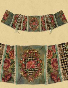 Belt - Michal Negrin good idea for fabrics for a cuff