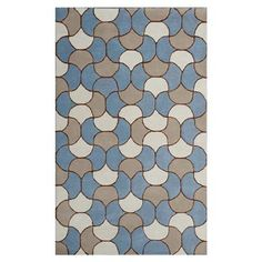 Floor Art 150x240cm Rug, Mid Blue