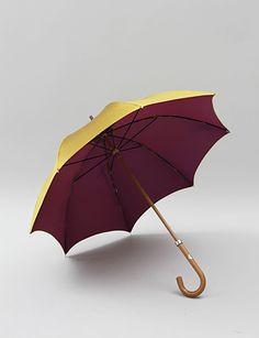 purple/gold umbrella