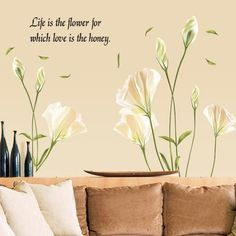 Lily Flowers - Wall Sticker Bedroom