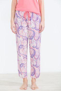 Womensecret Long pants with paisley print, printed