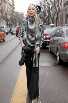 Milan Fashion Week Fall 2013 Street Style / Photo by Anthea Simms