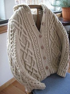 Whitney Double-X Hooded Cardigan - free pattern by Judy Lamb