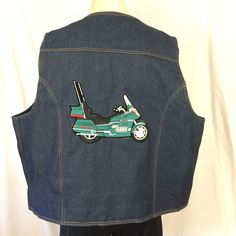 Gold Wing Road Riders Denim Vest XXL West Cal 45 With Patches Goldwing Cycle