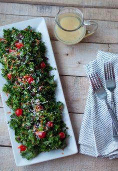 Recipe: Kale Salad with Lemon Honey Vinaigrette - this heart of mine