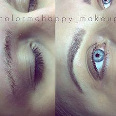 Hairstroke feather touch tattooed eyebrows microblading cosmetic tattoo