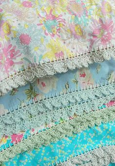Find lovely crochet-trimmed pillowcases like these at https://www.etsy.com/au/listing/258234724/liberty-linen-pillowcase-with-crochet?ref=shop_home_active_1