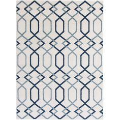 Surya Horizon Blue Geometric Area Rug