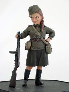 Amazon | ファインモールド 1/12? ワールドファイターコレクション W.W.2ソビエト陸軍女性兵士・ターニャ プラモデル FT4 | 戦車・軍用車両・大砲 | ホビー 通販