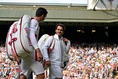 Roger Federer walk off Centre Court