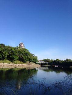 岡山城(鳥城)と旭川