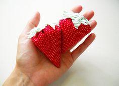 Strawberry sachets - whatnomints.etsy.com