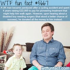 Paralyzed man donates money for his surgery - WTF fun fact - http://thisissnews.com/paralyzed-man-donates-money-for-his-surgery-wtf-fun-fact/
