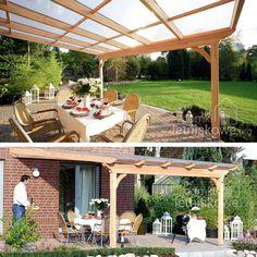 Zadaszenie Verona proste (Wooden terrace roofing) 500x525 cm