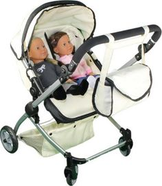 Kids Graco Baby Twin Doll Stroller Double Side By Side 4