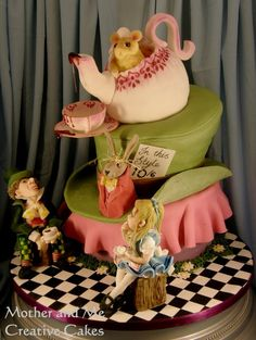 Wonderland Cake - by MotherandMe @ CakesDecor.com - cake decorating website