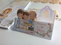 60 Baptism Invitations w Mini Rosary and Virgin Mary w Envelopes Made in Italy | eBay