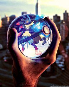Mega Lucario in a Pokeball by Jonathanjo.deviantart.com on @deviantART