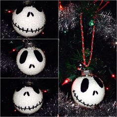 #jackskellington #ornament I made for #christmas #nightmarebeforechristmas #diy #crafts #holiday #simple #fun