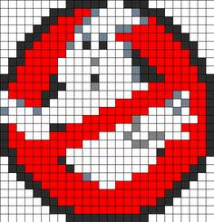 Ghostbusters Perler Bead Pattern | Bead Sprites | Characters Fuse Bead Patterns
