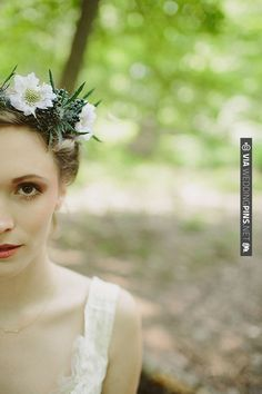 bride with thistle floral crown | With Love & Embers Photography | Bridal Musings | CHECK OUT MORE IDEAS AT WEDDINGPINS.NET | #weddings #weddingflowers #weddingbouquets #bouquets