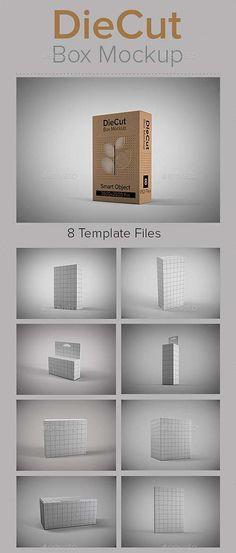 GraphicRiver DieCut Box Mockup