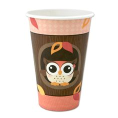 Owl Girl - Look Whooo's Having A Birthday  - Hot/Cold Cups - 8 Qty/Pack - Birthday Party Supplies