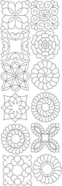 Advanced Embroidery Designs - Mandala Quilting Pattern Set.